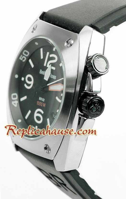 Bell and Ross BR 02 Steel Replica Watch 01