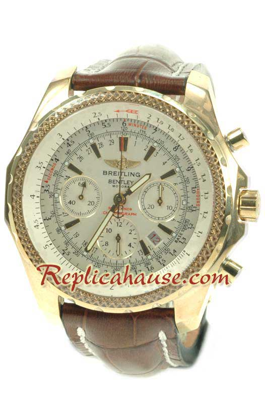 Breitling for Bentley Gold Swiss Replica Watch 6