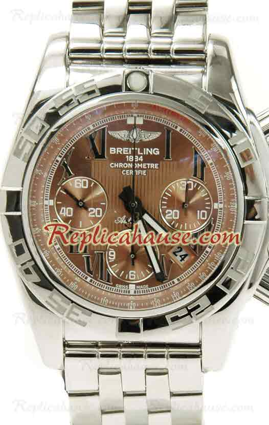Breitling Chronograph Chronometre Swiss Replica Watch 02