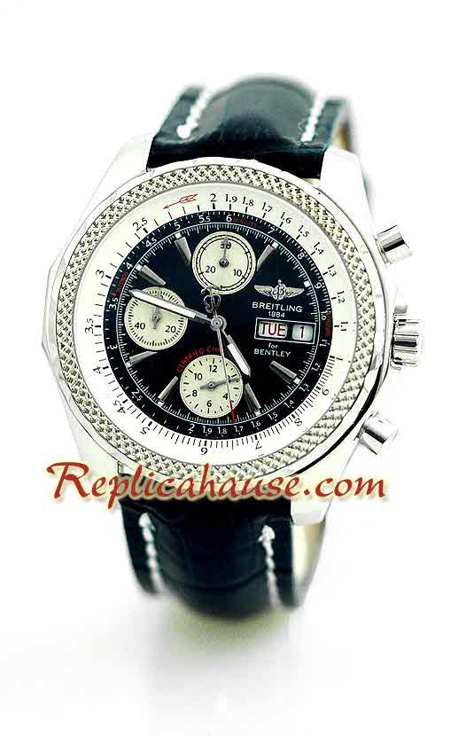 Breitling for Bentley Leather Watch 19