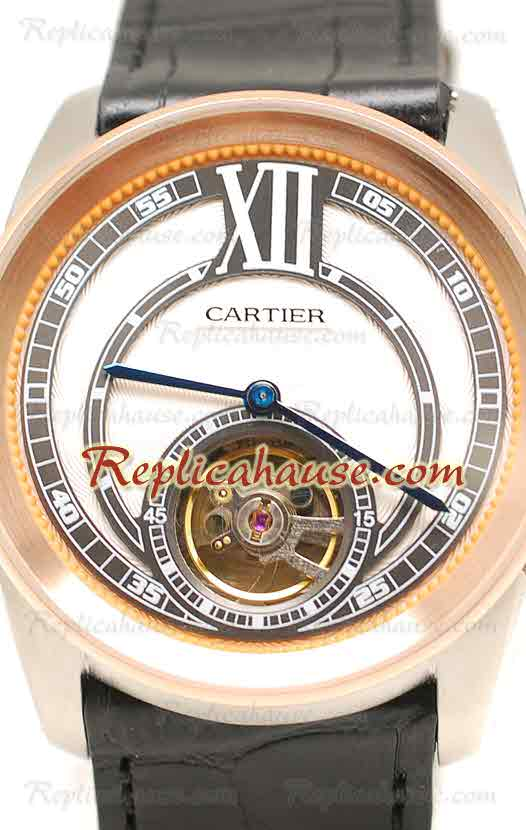 Calibre de Cartier Flying Tourbillon Replica Watch 06