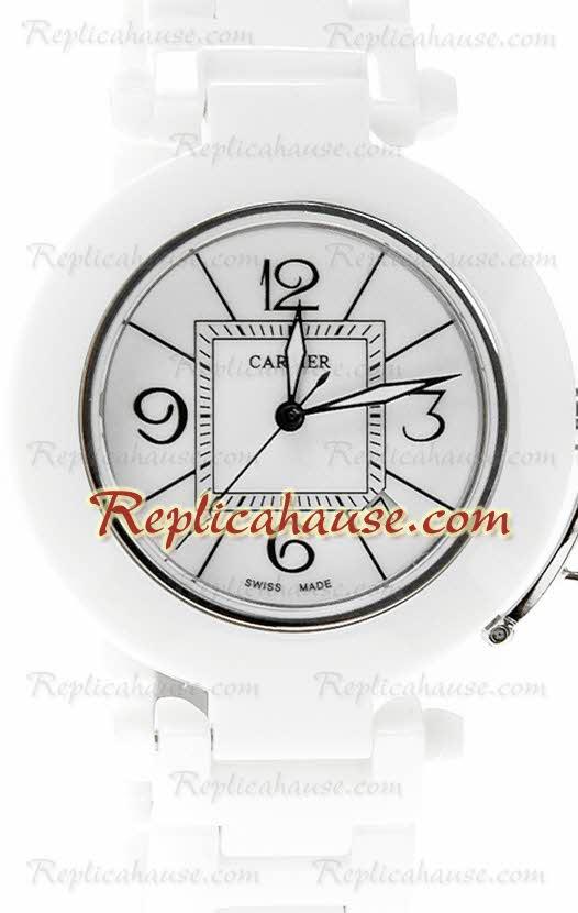 Cartier De Pasha Ceramic Replica Watch 02