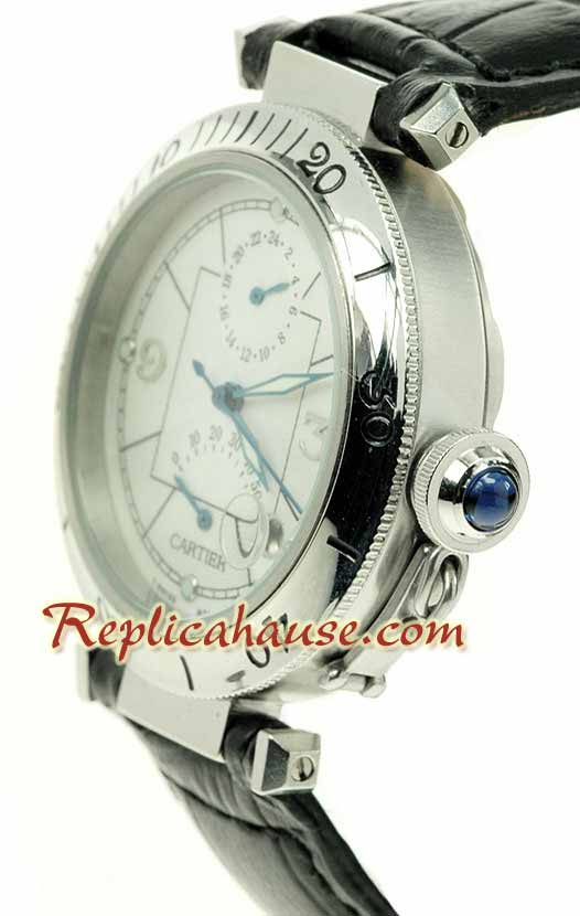 Cartier De Pasha Power Reserve Leather Watch 04
