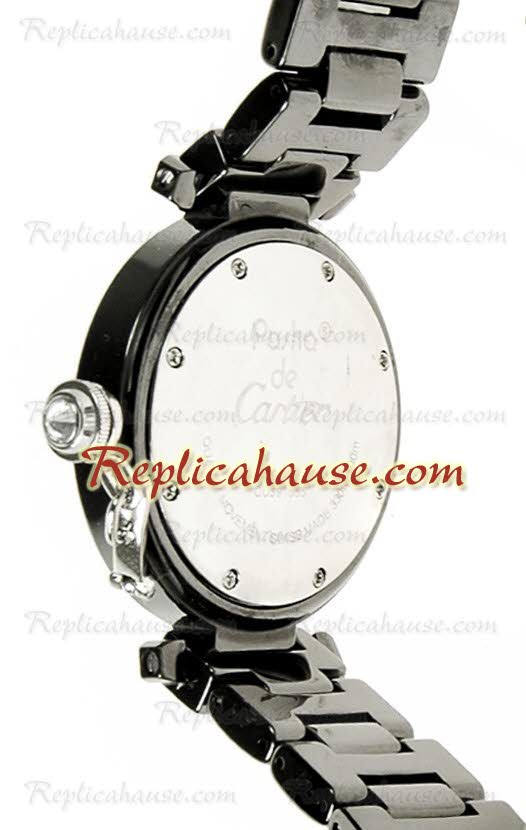 Cartier Replica De Pasha Ceramic Ladies Watch 01