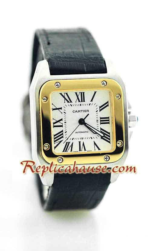 Cartier Santos 100 Swiss Replica Watch 5