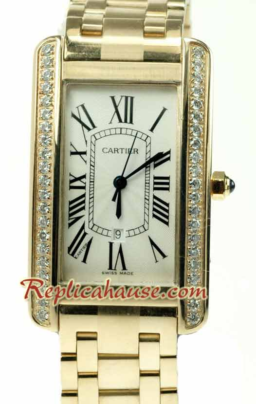 Cartier Santos Tank Americaine Swiss Ladies 5
