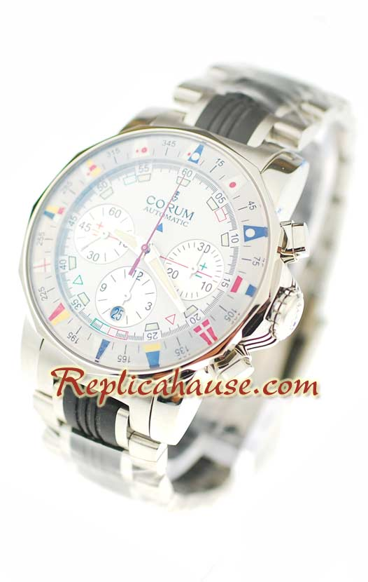 Corum Admirals Cup Chronograph Swiss Watch 03
