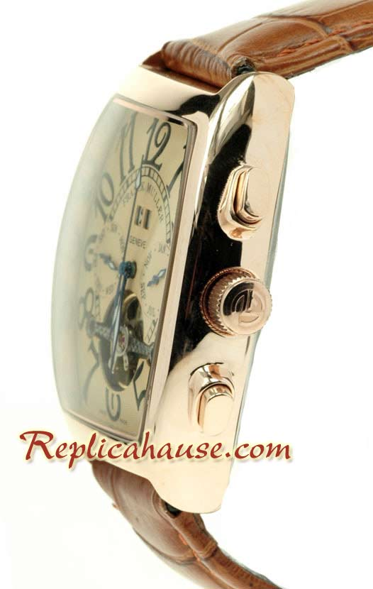 Franck Muller Conquistador Pink Gold Replica Watch 01