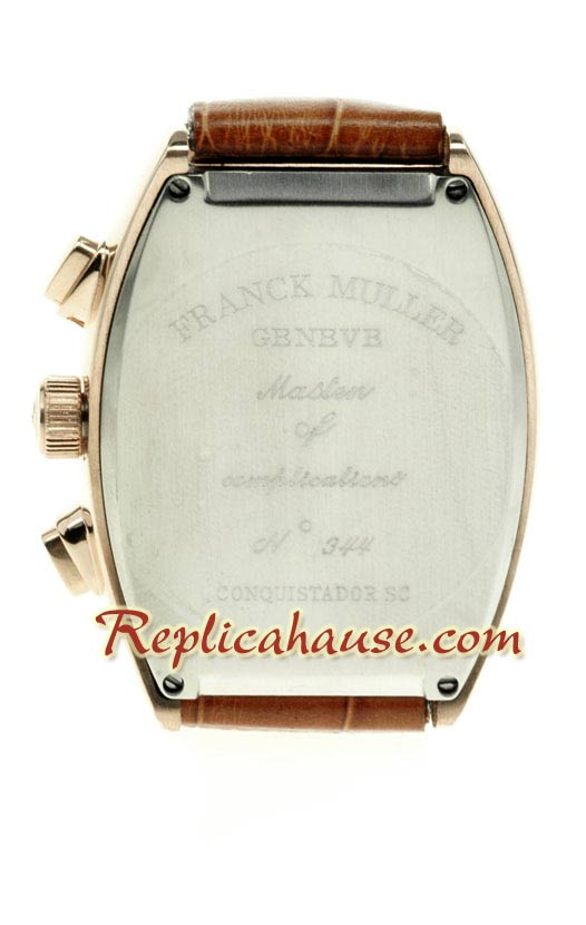 Franck Muller Conquistador Pink Gold Replica Watch 03