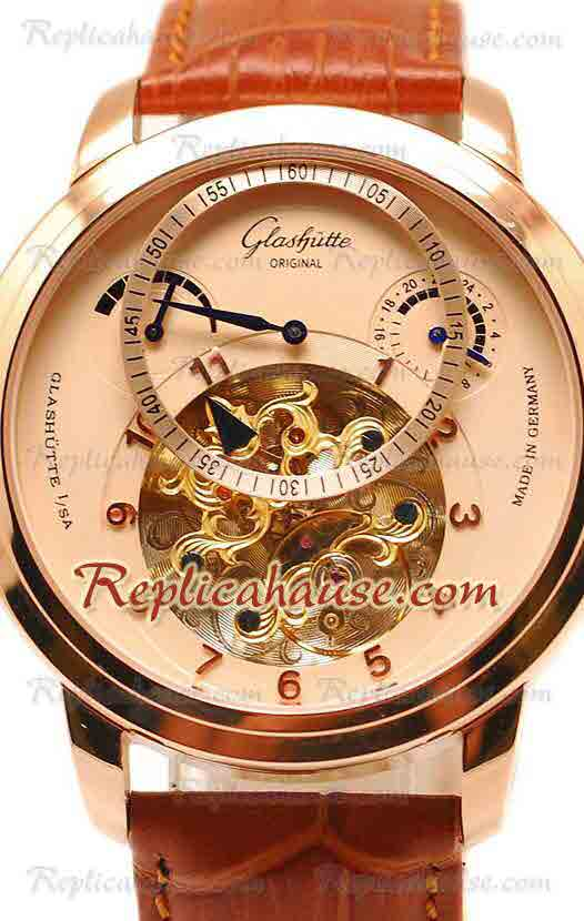Glashutte Panaomatic Regulator Tourbillon Replica Watch 01