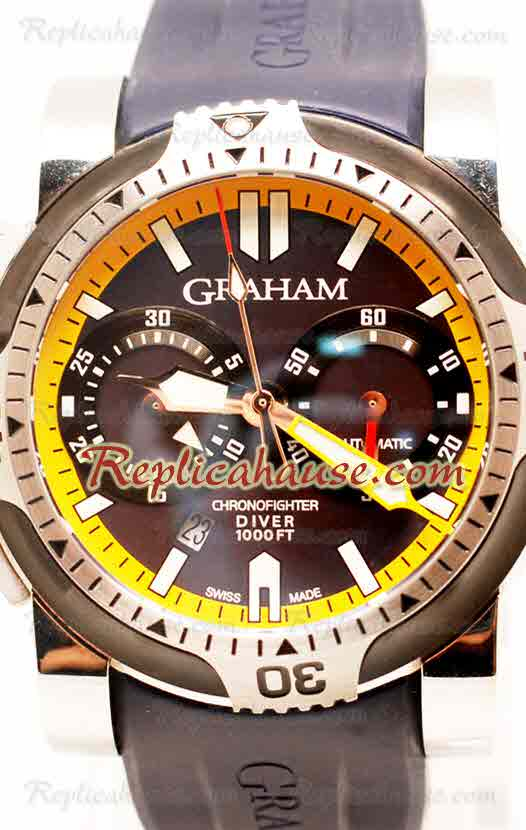 Graham Chronofighter Oversize Diver Swiss Watch 21