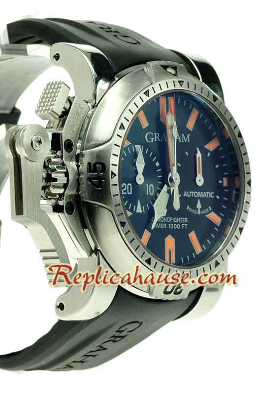 Graham Chronofighter Oversize Diver Swiss Watch 01