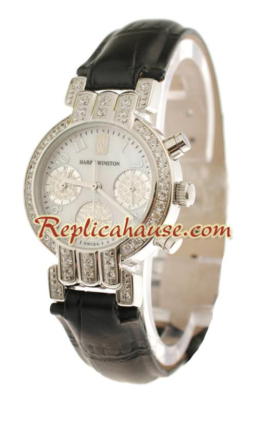 Harry Winston Chronograph Swiss Ladies Replica Watch 01