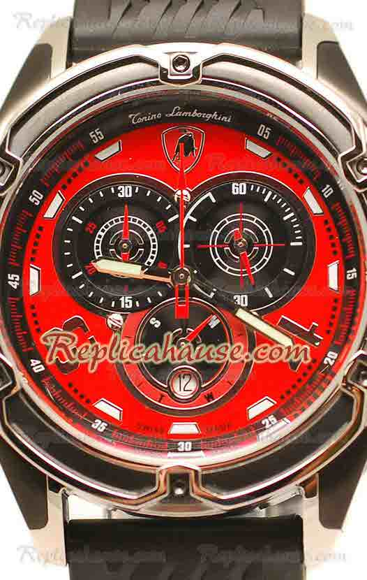 Lamborghini Mesh Chronograph Japanese Replica Watch 01