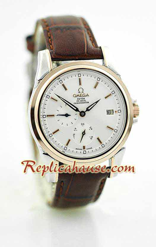 Omega CO AXIAL DeVille Swiss Replica Watch 1