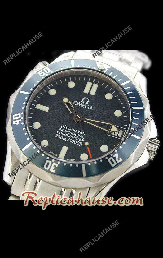 Omega Seamaster Blue Professional Swiss Watch 11