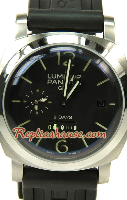 Panerai Luminor GMT 8 Days Swiss Replica Watch 04