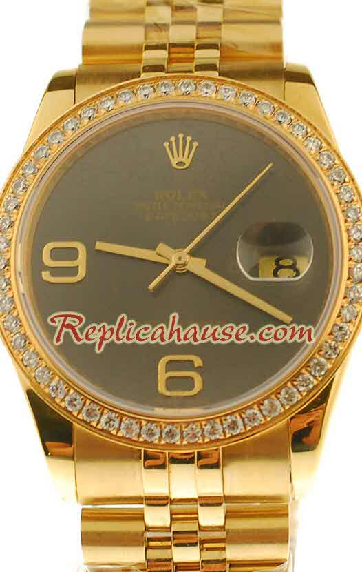 Rolex Swiss Replica Floral Motif 2010 Edition Datejust Watch 08