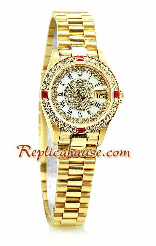 Rolex Replica Datejust Gold Ladies Watch 21