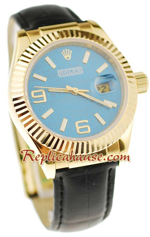 Rolex Datejust Leather Replica Watch 5