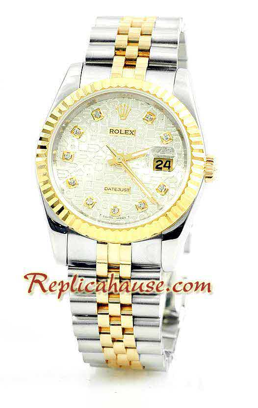 Rolex Replica Datejust Two Tone Watch 02