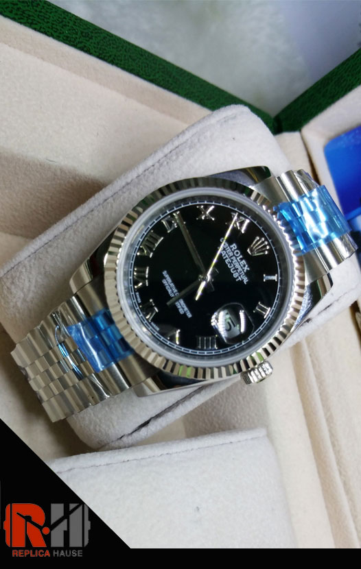 Rolex Replica Datejust Black Swiss Watch 06