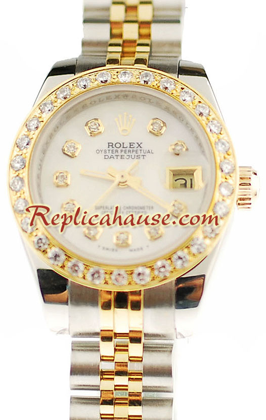 Rolex Datejust Two Tone Ladies Replica Watch 37