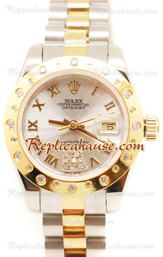 Rolex Replica DateJust Two Tone Ladies - 38
