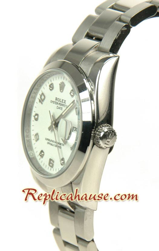 Rolex Replica Datejust Silver Watch - Mid Sized 0890