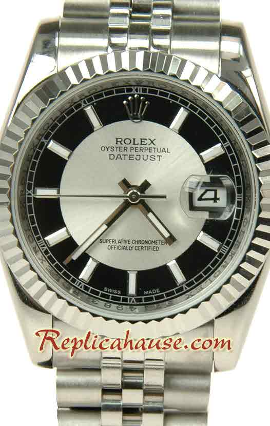 Rolex Replica Datejust Silver Watch 10