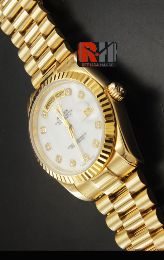 Rolex Day Date Gold Swiss Watch 6