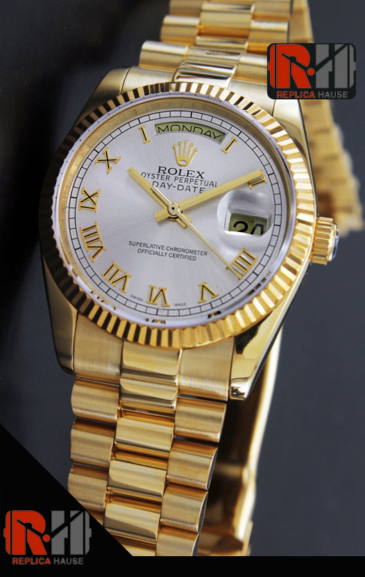 Rolex Day Date Gold Swiss Watch 5
