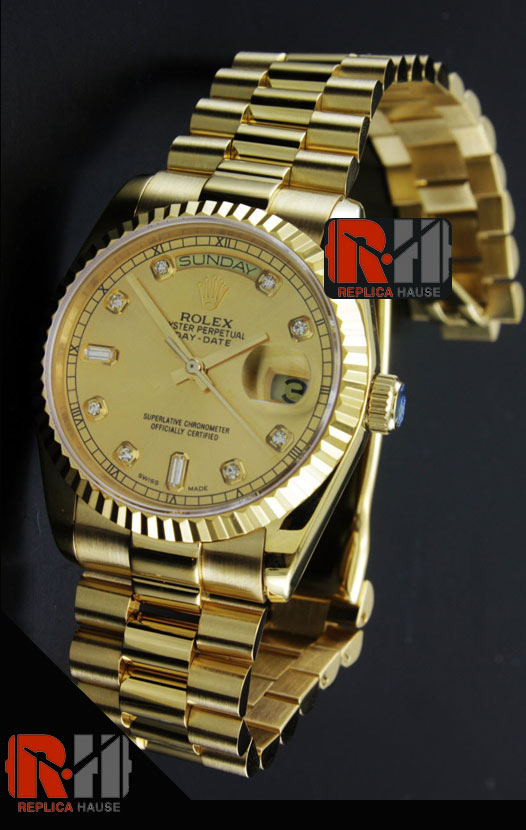 Rolex Day Date Gold Swiss Watch 4