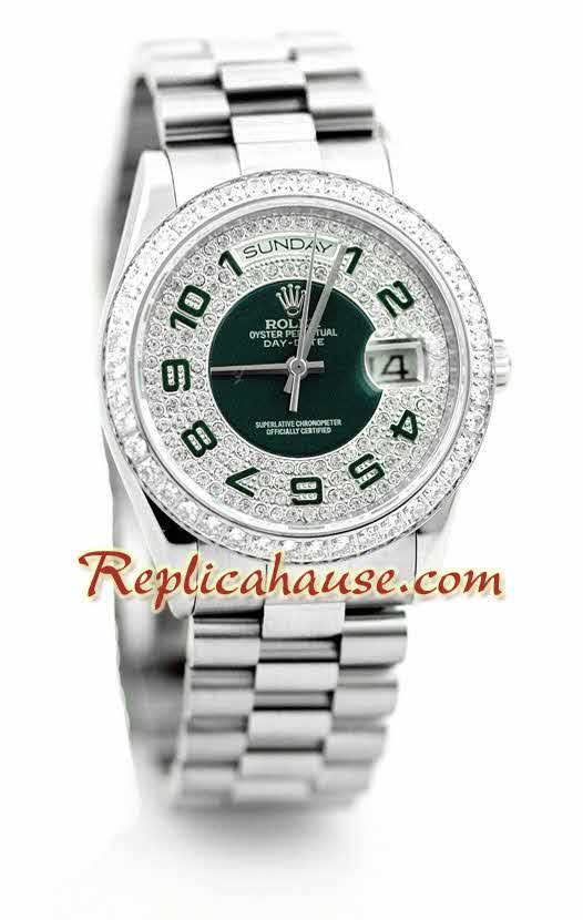 Rolex Replica Day Date Diamonds Swiss Watch 6