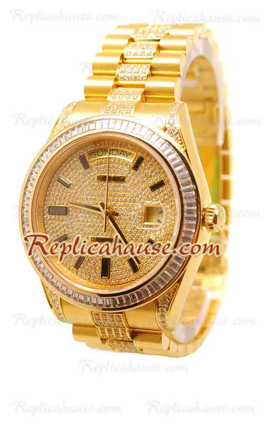 Rolex Day Date Gold Swiss Watch 03
