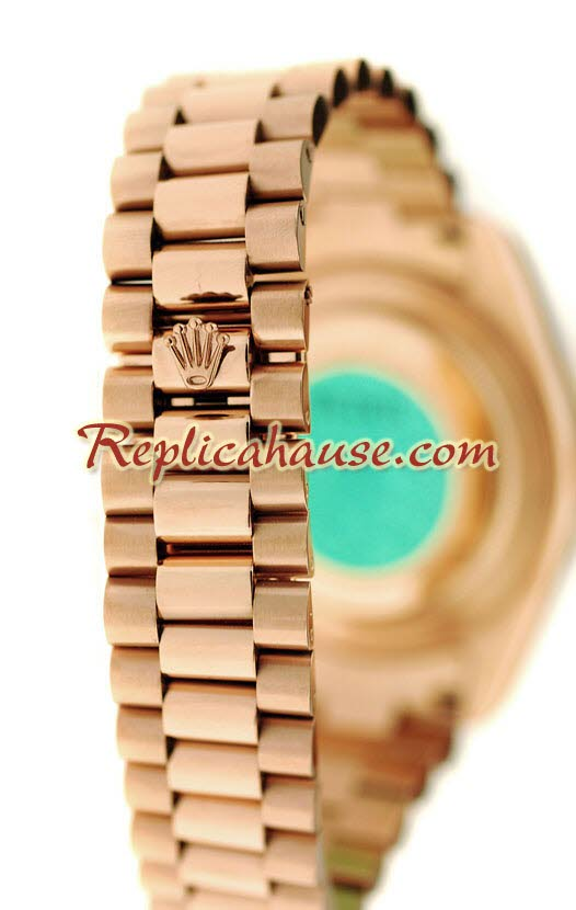 Rolex Replica Day Date Pink Gold Swiss Watch 6