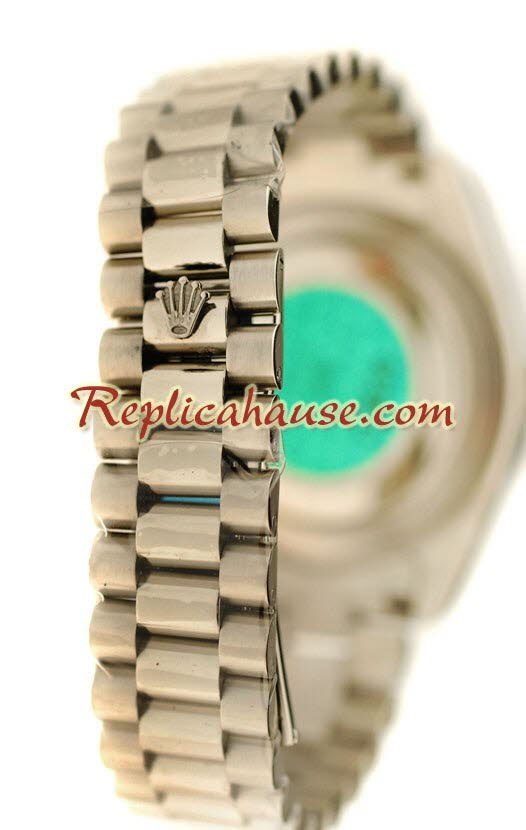 Rolex Replica Day Date Silver Swiss Watch 18