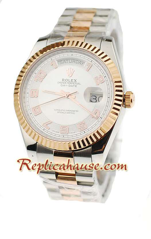 Rolex Replica Day Date Two Tone Swiss Watch 11