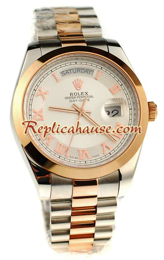 Rolex Replica Day Date Two Tone Swiss Watch 14