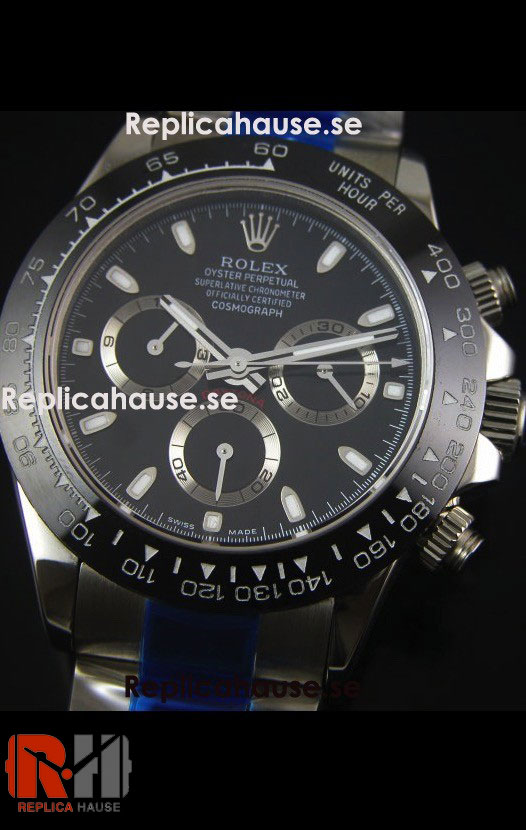 Rolex Replica Daytona Black Super Swiss Watch 12