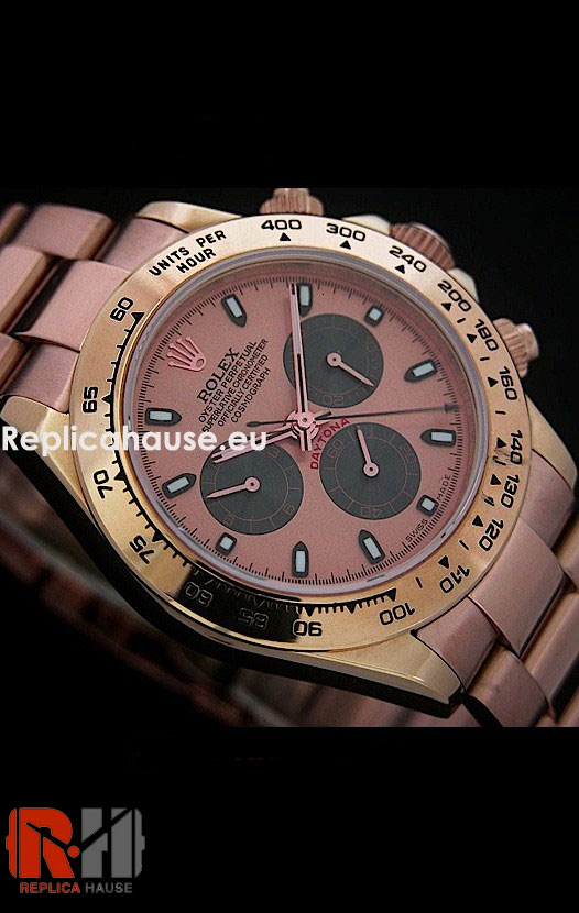 Rolex Replica Daytona Pink Gold Swiss Watch 15