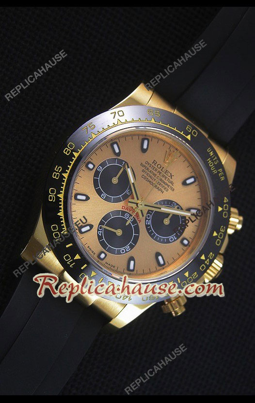 Rolex Daytona Everose Yellow Gold Swiss Watch 20