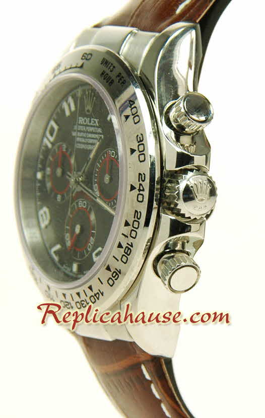 Rolex Replica Daytona Swiss Leather Watch 03