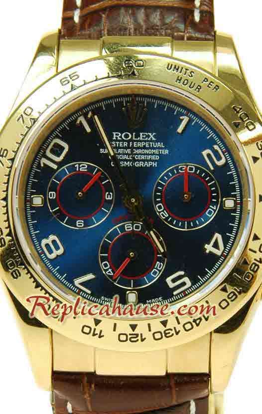 Rolex Replica Daytona Swiss Leather Watch 04