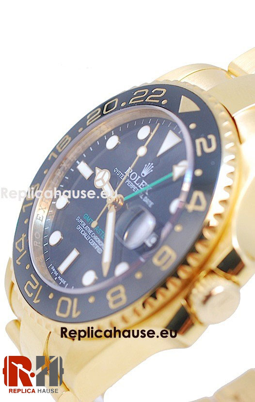 Rolex Replica GMT Masters II Gold - Swiss Watch 11