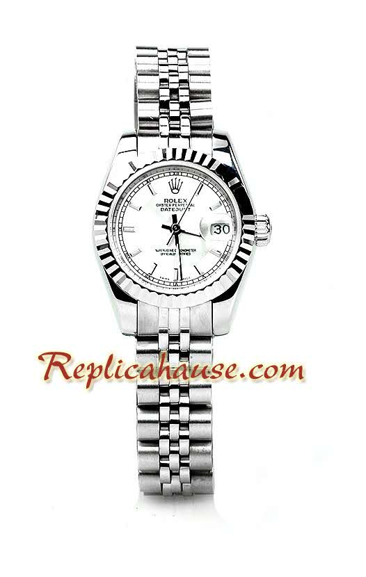Rolex Replica Datejust Silver Ladies Watch 11