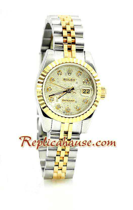 Rolex Replica Datejust Two Tone Ladies Watch 17