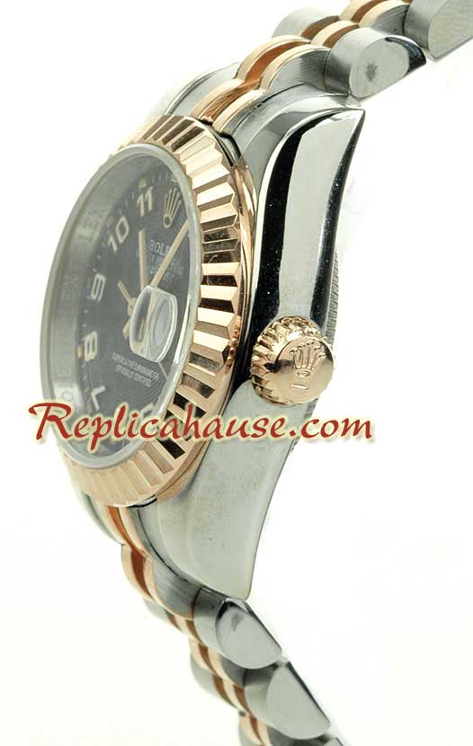 Rolex Replica Ladies Datejust Pink Gold Watch 02