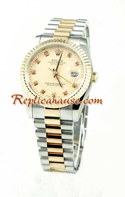 Rolex Replica Datejust Mens Watch - Pink Gold 02