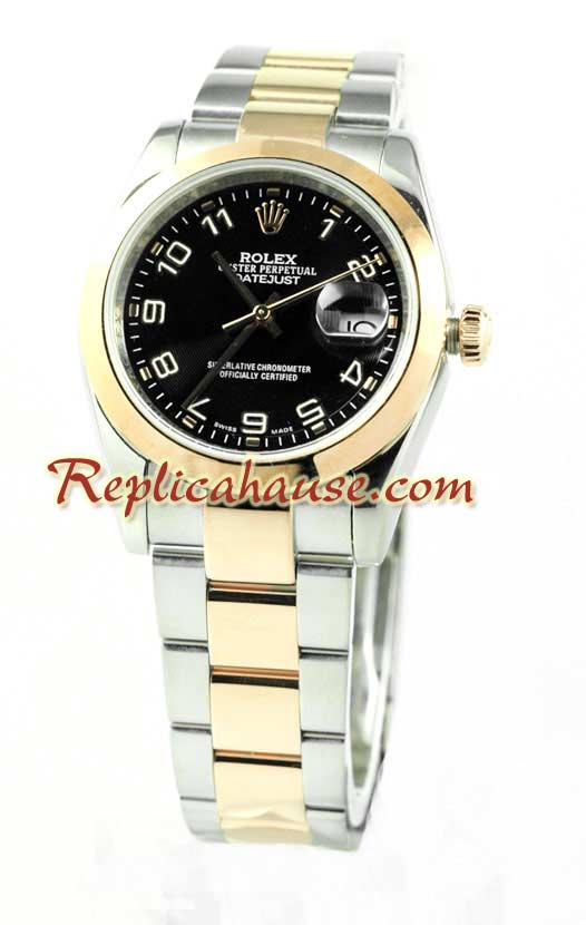 Rolex Replica Datejust Mens Watch - Pink Gold 04